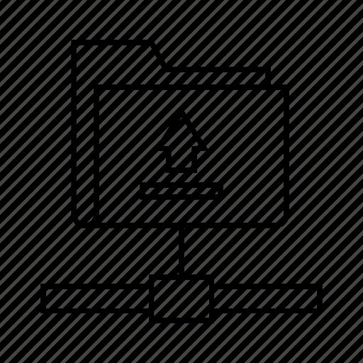 data, data transfer, file, folder, network, tunnel, uploda icon