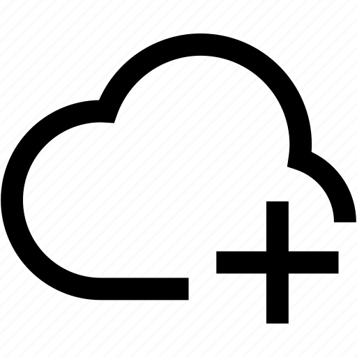 add, cloud, connection, internet, network, plus, syncronisation icon