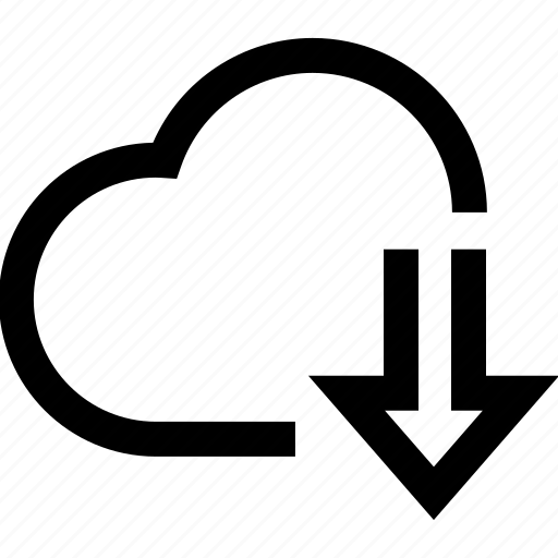 cloud, connection, download, internet, network, syncronisation icon