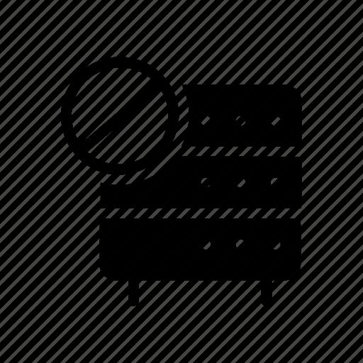 block, database, server, stop, storage icon