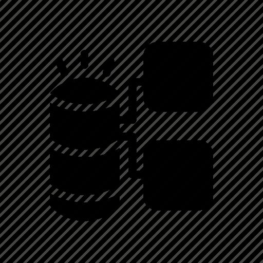 connection, database, network, server, storage icon
