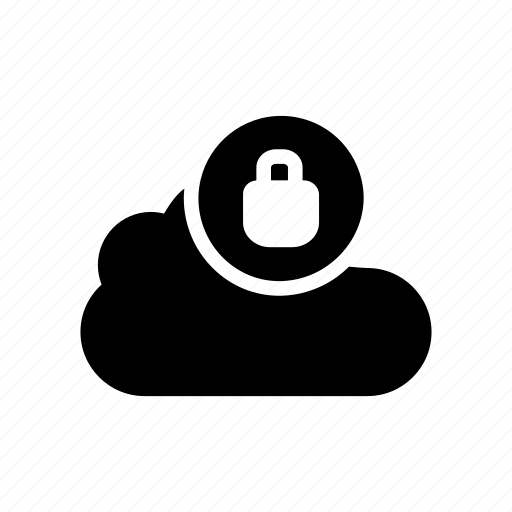cloud, lock, private, protection, secure icon