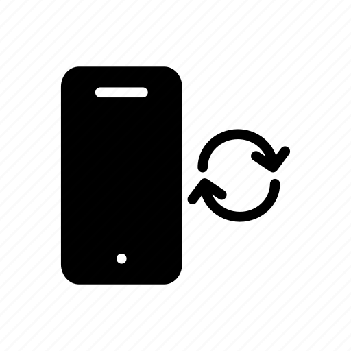 device, mobile, phone, refresh, reload icon