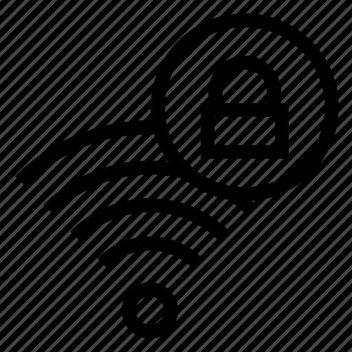 lock, rss, signal, wifi, wireless icon