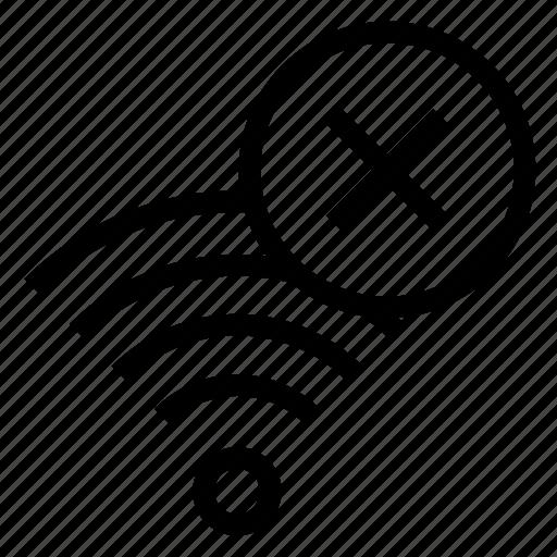 delete, rss, signal, wifi, wireless icon