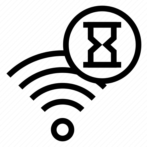 hourglass, rss, signal, timer, wifi icon