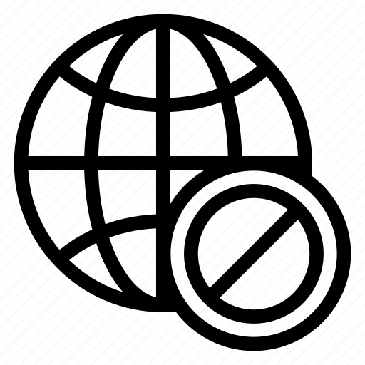 ban, block, browser, global, world icon