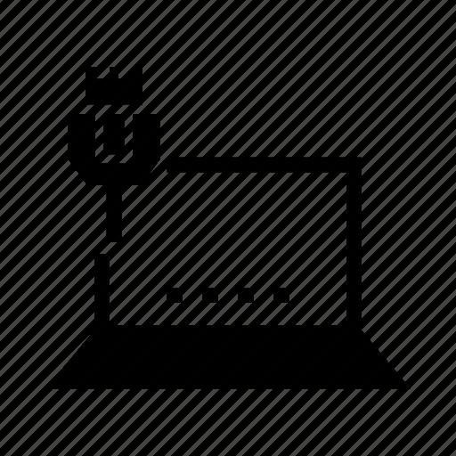 device, lan, laptop, network, usb icon
