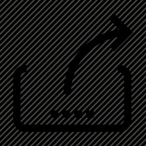 enter, export, external, forward, share icon
