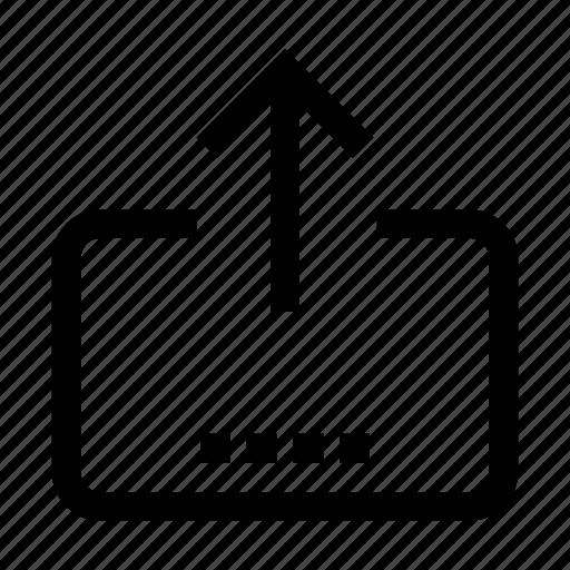 arrow, export, files, transfer, upload icon