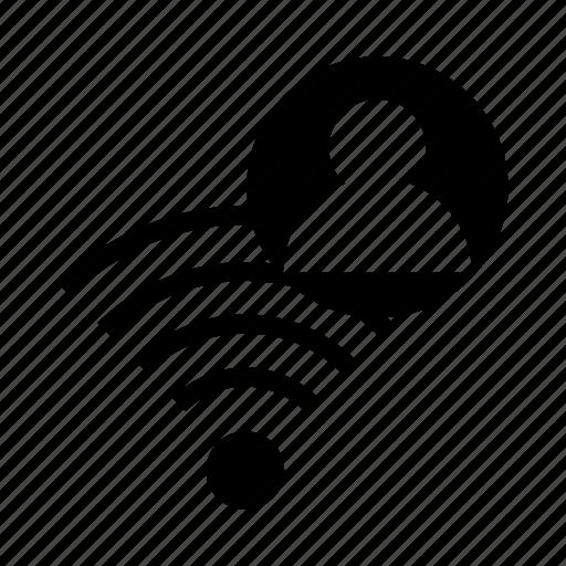 account, avatar, user, wifi, wireless icon