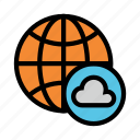 cloud, earth, global, globe, world icon
