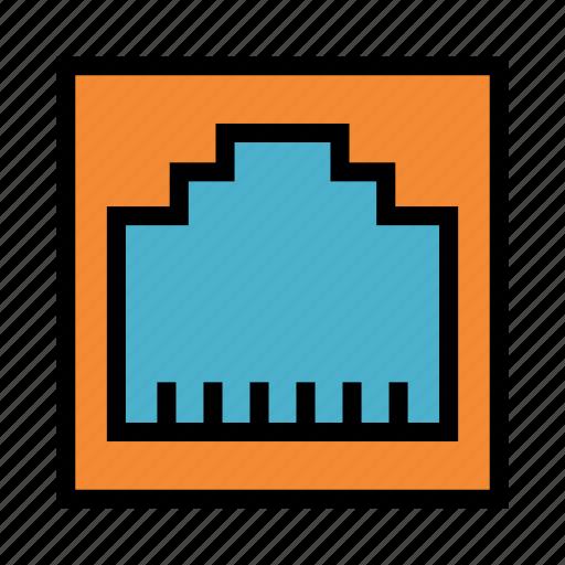Connection, ethernet, lan, port, usb icon - Download on Iconfinder
