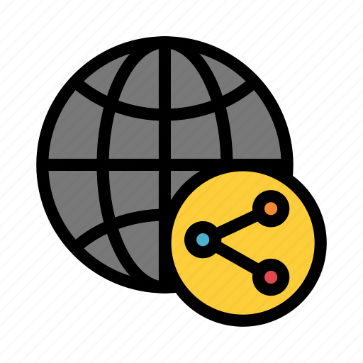 connect, connection, global, network, share icon