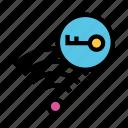key, lock, rss, signal, wifi icon