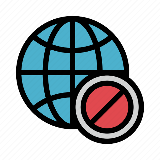 Ban, block, browser, global, world icon - Download on Iconfinder