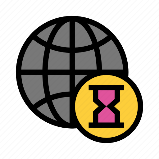 Earth, global, hourglass, timer, world icon - Download on Iconfinder
