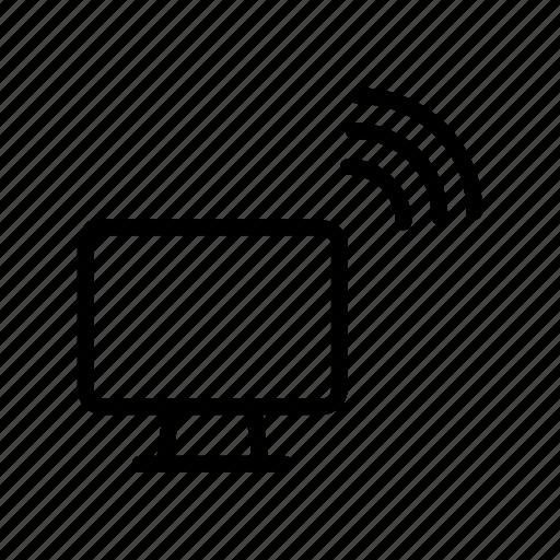 computer, device, screen, signal, wireless icon