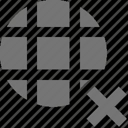 close, delete, network icon