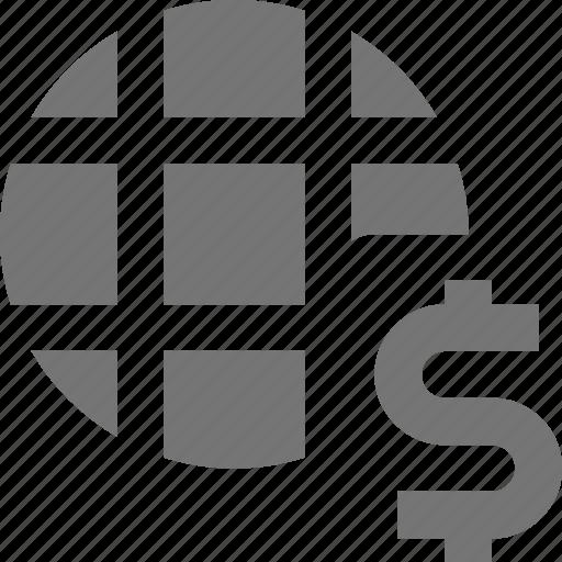 dollar, money, network icon