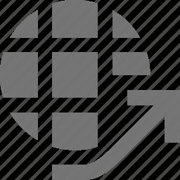 forward, network icon