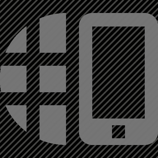 mobile, network, phone, smartphone, telephone icon