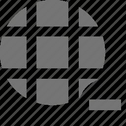 minimize, minus, network, remove icon