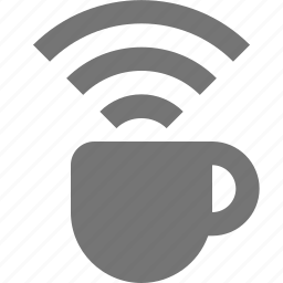 coffee, mug, signal, wifi icon