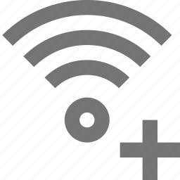 add, new, plus, signal, wifi icon