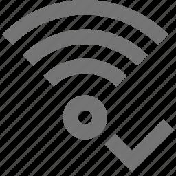 check, select, signal, wifi icon