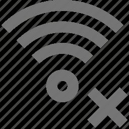 close, delete, signal, wifi icon