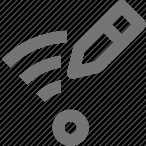 edit, pencil, signal, wifi icon