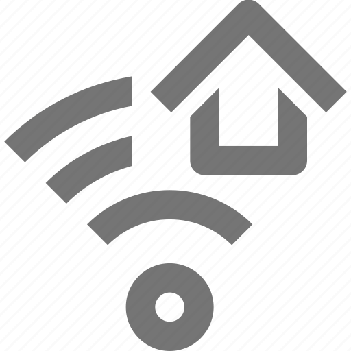 home, house, signal, wifi icon
