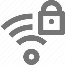 lock, security, signal, wifi icon