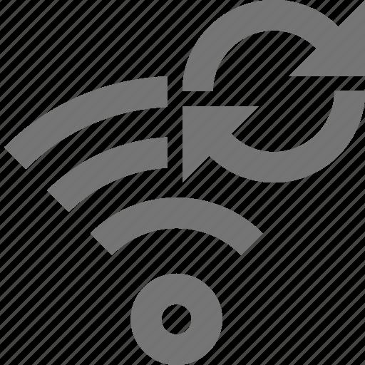 arrows, refresh, reload, signal, wifi icon