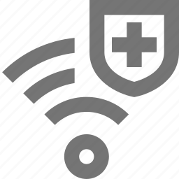 security, shield, signal, wifi icon