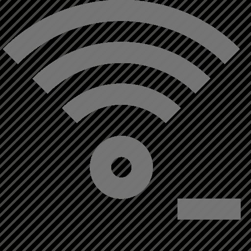 minimize, minus, signal, wifi icon