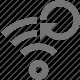 arrow, refresh, reload, signal, sync, wifi icon