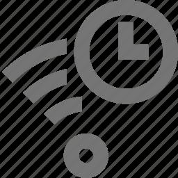 clock, signal, time, wifi icon