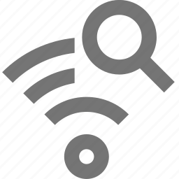 magnify, signal, view, wifi icon