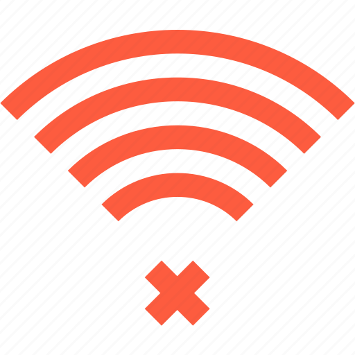 connection, coverage, failed, lost, network, signal, status, wifi icon