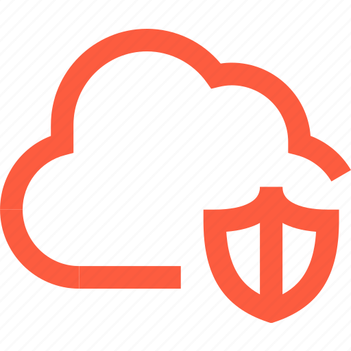 antivirus, cloud, defense, network, protection, security, shield icon