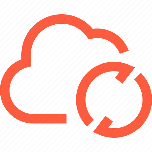 cloud, connection, data, network, process, sync, synchronization, syncing icon