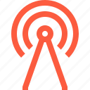 antenna, connection, network, radio, signal, transmission, wifi, wireless icon