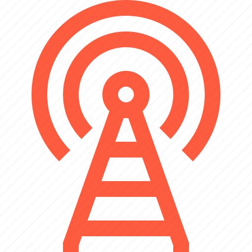 antenna, connection, coverage, network, radio, signal, tower icon