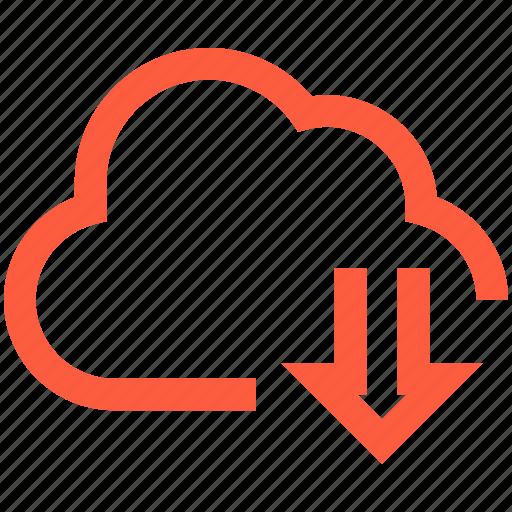 cloud, data, download, network, save, storage icon