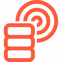 connection, data, database, network, rack, server, wireless icon