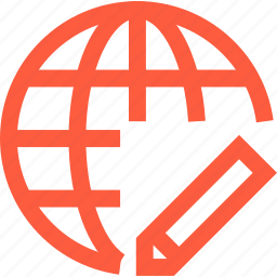 change, edit, global, interconnection, network, set, www icon