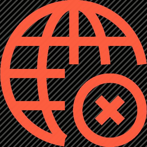 connection, error, fail, global, internet, network, www icon