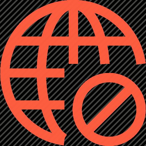 ban, block, firewall, global, internet, network, www icon